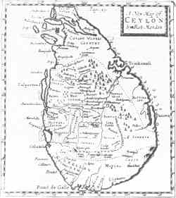 Antique map of Ceylon.  Click on image to follow link.
