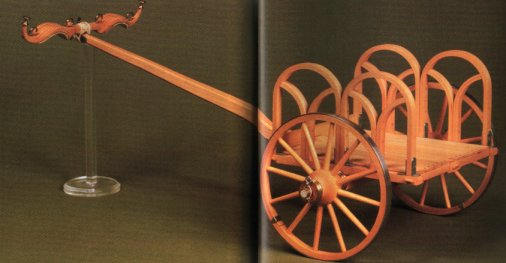 A reconstructed chariot. Click to learn more.