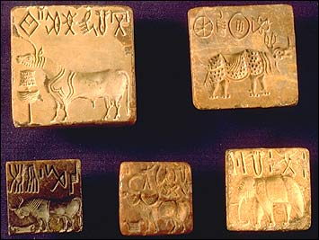 Seals from Mohenjo Daro