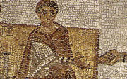 A portion of a Tunisian mosaic.  Click to visit the site on this subject.