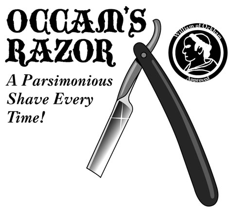 Click to visit the site that compares Twitter to Occam's Razor!