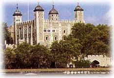 The Tower of London.  Click to visit a site about the Tower and the Crown Jewels.